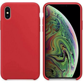 Ibroz iPhone Xs Max Liquid Silicone rouge