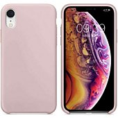 Coque Ibroz iPhone Xr Liquid Silicone rose