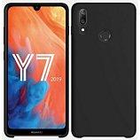 Coque Ibroz  Huawei Y7 2019 Liquid Silicone noir