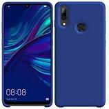 Coque Ibroz  Huawei P Smart 2019 Liquid Silicone bleu