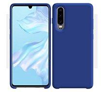 Coque Ibroz  Huawei P30 Liquid Silicone bleu