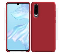 Coque Ibroz  Huawei P30 Liquid Silicone rouge
