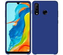 Coque Ibroz  Huawei P30 Lite/XL Liquid Silicone bleu
