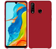 Coque Ibroz  Huawei P30 Lite/XL Liquid Silicone rouge