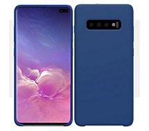 Coque Ibroz  Samsung S10 Liquid Silicone bleu