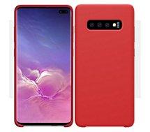 Coque Ibroz  Samsung S10 Liquid Silicone rouge