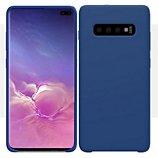 Coque Ibroz  Samsung S10+ Liquid Silicone bleu