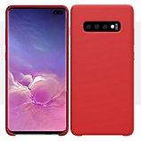 Coque Ibroz  Samsung S10+ Liquid Silicone rouge