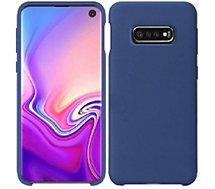Coque Ibroz  Samsung S10e Liquid Silicone bleu