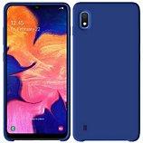 Coque Ibroz  Samsung A10 Liquid Silicone bleu