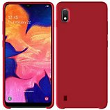 Coque Ibroz  Samsung A10 Liquid Silicone rouge