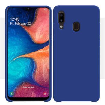 Ibroz Samsung A20e Liquid Silicone bleu marine