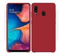 Coque Ibroz  Samsung A20e Liquid Silicone rouge