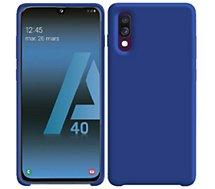 Coque Ibroz Samsung A40 Liquid Silicone bleu marine