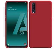Coque Ibroz  Samsung A50 Liquid Silicone rouge