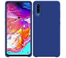 Coque Ibroz  Samsung A70 Liquid Silicone bleu