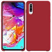 Coque Ibroz Samsung A70 Liquid Silicone rouge