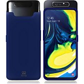 Housse Ibroz Samsung A80 Liquid Silicone bleu