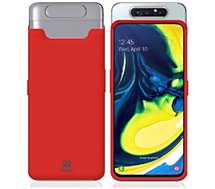 Housse Ibroz  Samsung A80 Liquid Silicone rouge