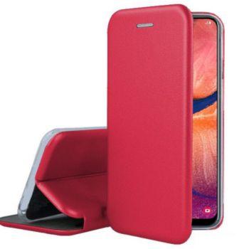 Ibroz Samsung A20e Cuir rouge