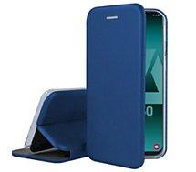 Etui Ibroz  Samsung A50 Cuir bleu marine