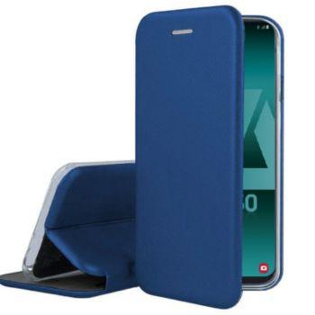 Ibroz Samsung A50 Cuir bleu marine