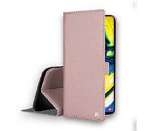 Etui Ibroz  Samsung A80 Cuir rose