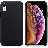 Coque Ibroz iPhone Xr Liquid Silicone noir