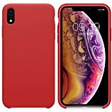 Coque Ibroz  iPhone Xr Liquid Silicone rouge