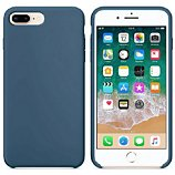 Coque Ibroz  iPhone 7/8/SE 2020 Liquid Silicone bleu