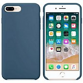 Coque Ibroz iPhone 6/7/8 Liquid Silicone bleu