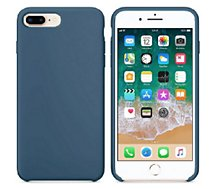 Coque Ibroz  iPhone 7/8/SE 2020 Liquid Silicone bleu