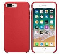 Coque Ibroz  iPhone 7/8/SE 2020 Liquid Silicone rouge
