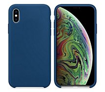 Coque Ibroz  iPhone Xs Max Liquid Silicone bleu