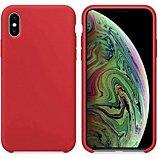 Coque Ibroz  iPhone Xs Max Liquid Silicone rouge