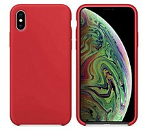 Coque Ibroz  iPhone Xs Max Liquid Silicone rouge