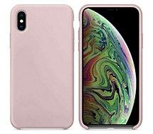 Coque Ibroz  iPhone Xs Max Liquid Silicone rose