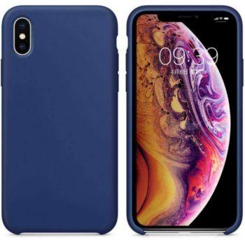 Ibroz iPhone Xs Liquid Silicone bleu