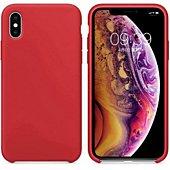 Coque Ibroz iPhone Xs Liquid Silicone rouge