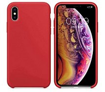 Coque Ibroz  iPhone Xs Liquid Silicone rouge