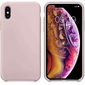 Coque Ibroz iPhone Xs Liquid Silicone rose