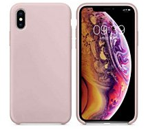 Coque Ibroz  iPhone Xs Liquid Silicone rose