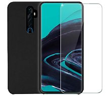Pack Ibroz  Oppo Reno 2 Coque Silicone noir