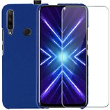 Pack Ibroz  Honor 9x Coque Silicone bleu