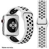 Bracelet Ibroz  Apple Watch Sport 40mm noir/blanc