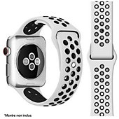 Bracelet Ibroz Apple Watch Sport 40mm noir/blanc