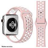 Bracelet Ibroz  Apple Watch Sport 40mm rose/blanc