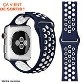 Bracelet Ibroz Apple Watch Sport 40mm bleu/blanc