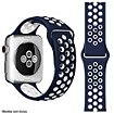 Bracelet Ibroz Apple Watch Sport 40mm bleu/blanc