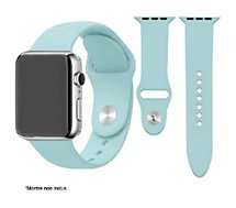 Bracelet Ibroz  Apple Watch SoftTouch 40mm bleu ciel